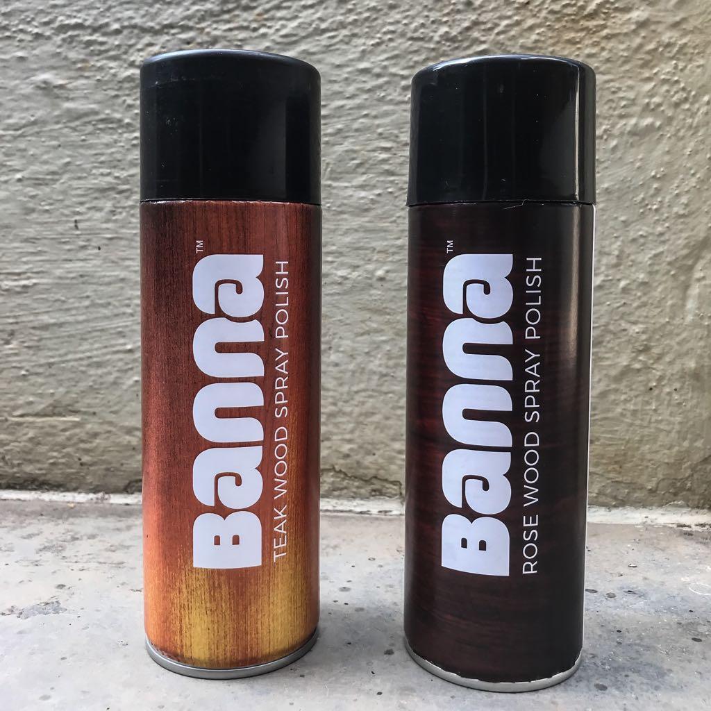 banna sprays wood polish