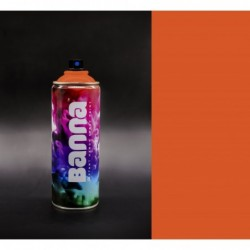 Dark Orange Graffiti Spray...